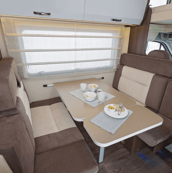 motorhome chairs and table