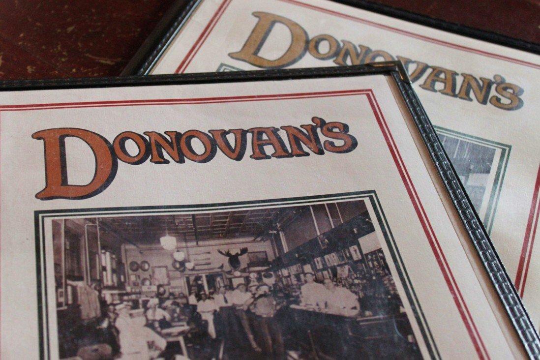Donovan's Menus
