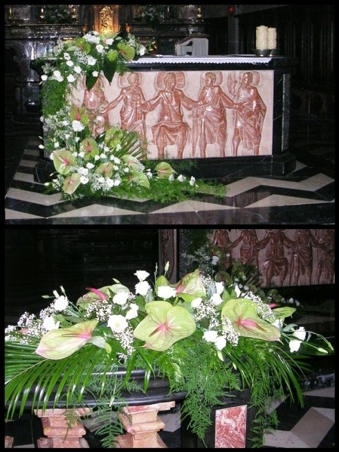 Particolari di una decorazione per matrimonio