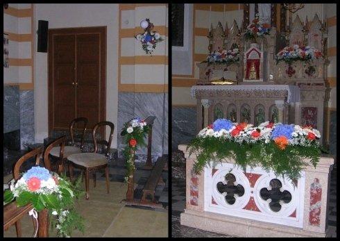 Allestimento Santuario Madonna di Lourdes