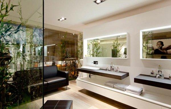 Design Bagno Due : Bagno con due lavandini. dettaglio base mobile con due lavabi