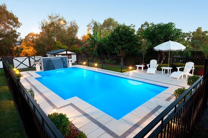Coastline pools the hunters award swimming pool builders - Fibreglass swimming pool bond beam ...