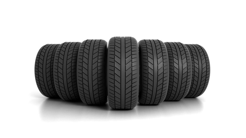 a selection of tyres showing tread depths