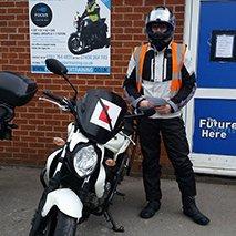 Man wearing biker gear
