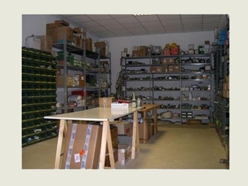 magazzino per riparazione caldaie