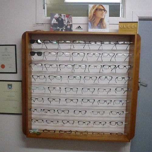 Wide range of spectacles at optometry