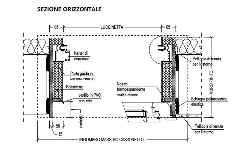 sezione orizzontale cassonetto
