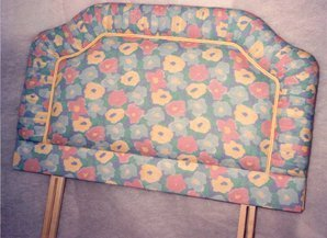 Feather fibre cushions - Bedford - CA and NC Pedlar Upholstery - flower patterned fabric