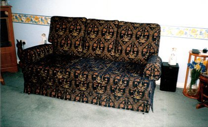 Foam cushions - Cambridge - CA and NC Pedlar Upholstery - beautifully patterned coach