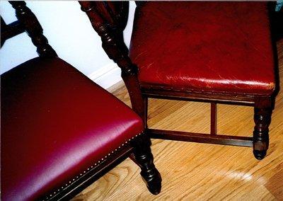 Furniture frame repairs - Peterborough - CA and NC Pedlar Upholstery - dining chairs