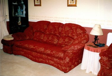 Furniture repairs  - Chatteris - CA and NC Pedlar Upholstery - red couch