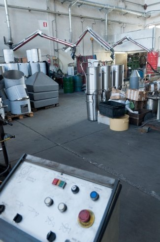 pezzi in acciao, componenti per industrie, elementi per impianti