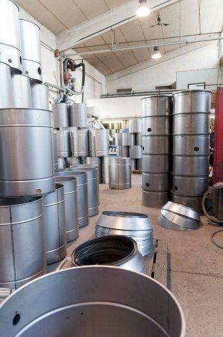 realizzazione cilindri, camere a vuoto per aspiratori, condotti per aspiratori industriali