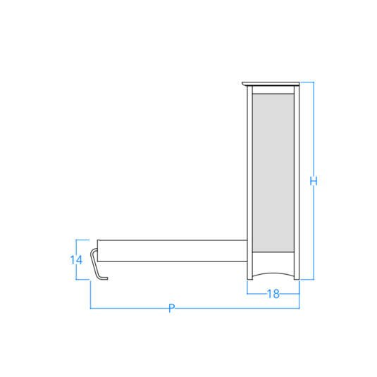 Horizontal Craftsman Profile w/Dimensions