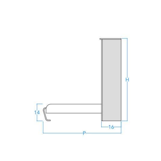 Horizontal No Frills Contemporary Profile w/Dimensions
