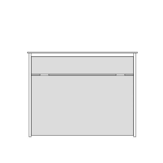 Queen or Full Horizontal No Frills Contemporary Wall Bed