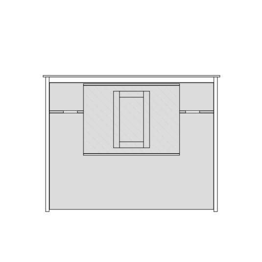 Queen or Full Horizontal No Frills Contemporary Wall Bed w/Table (Centered)