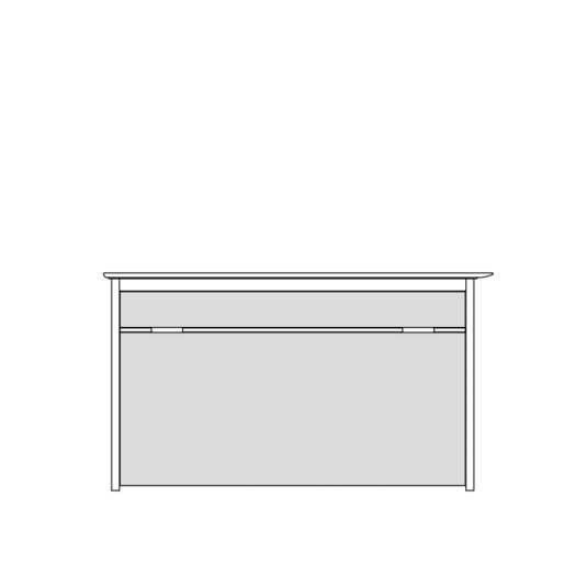 Twin Horizontal No Frills Contemporary Wall Bed