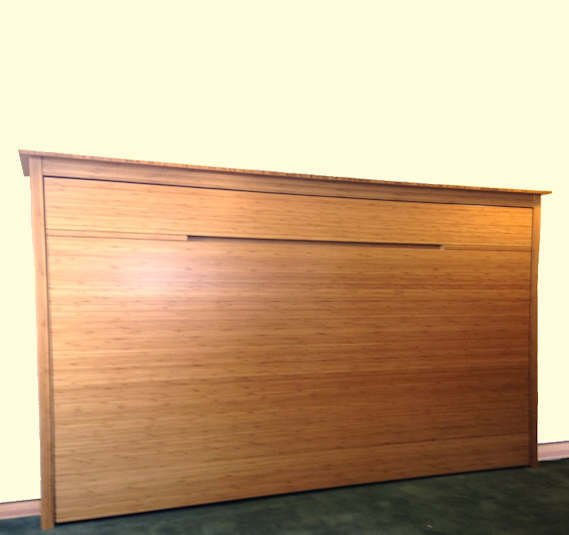 Twin Horizontal No Frills Contemporary Wall Bed