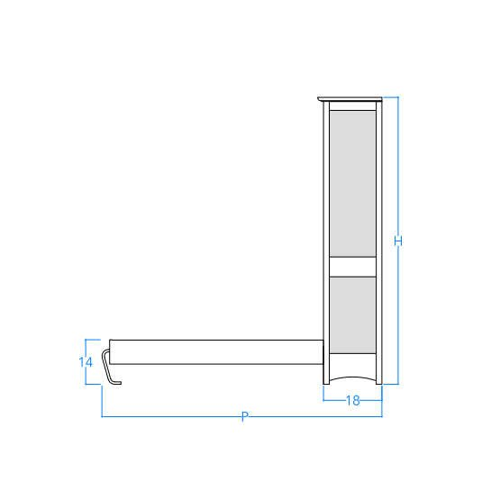 Vertical Craftsman Profile w/Dimensions