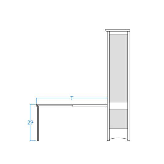 Vertical Craftsman Table Profile w/Dimensions
