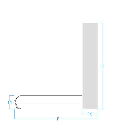 Vertical Craftsman Profile w/Dimensions
