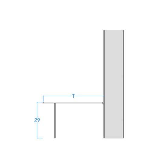 Twin Vertical No Frills Contemporary w/Table Profile