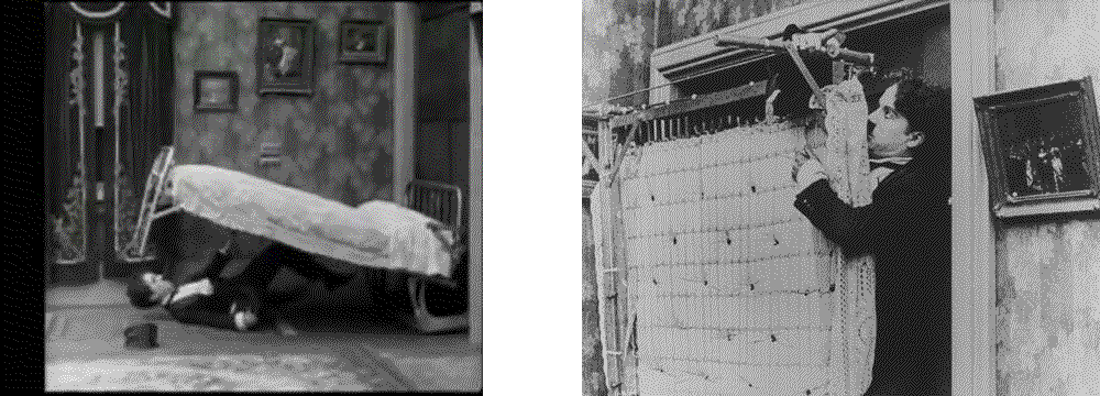 Charlie Chaplin and Hollywood murphy bed humor