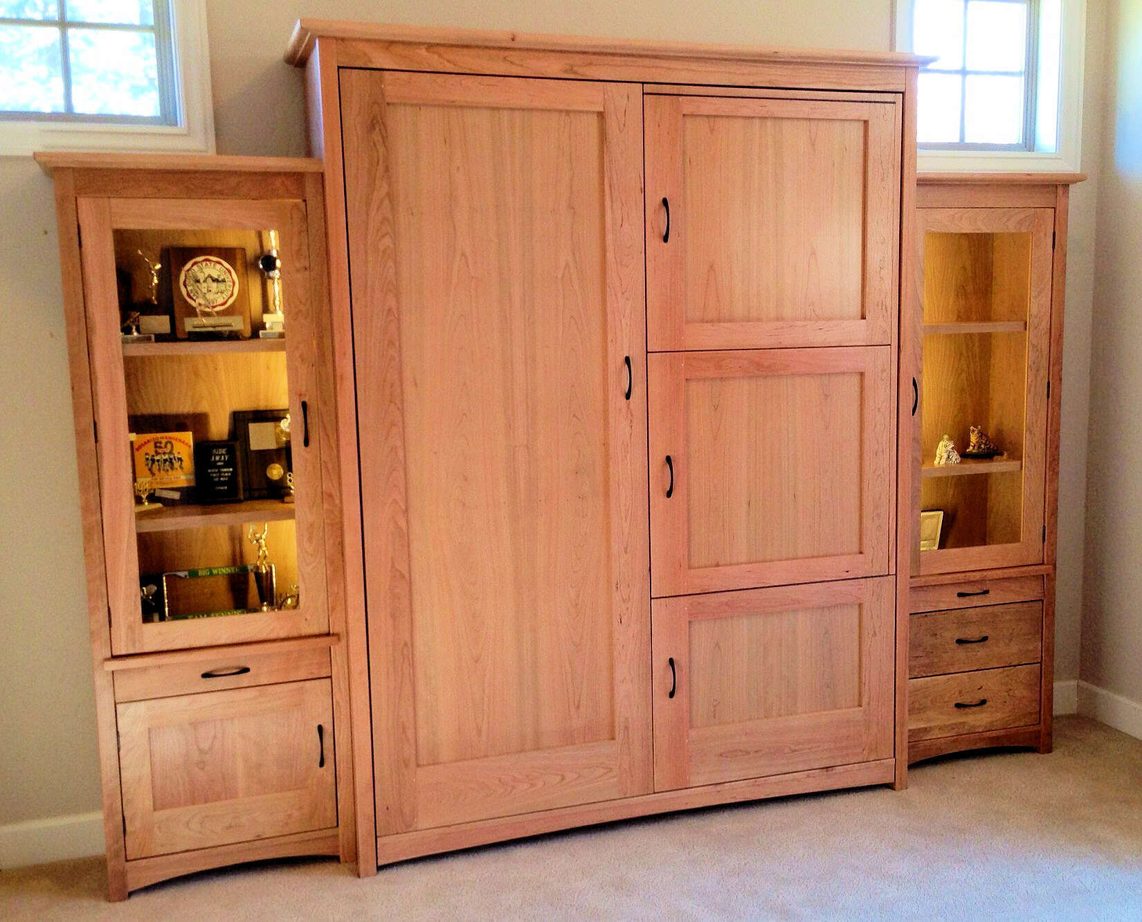 Flanking Trophy Cases by Sonoma Woodcraft