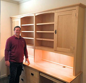 2-person desk with w/hutch and files