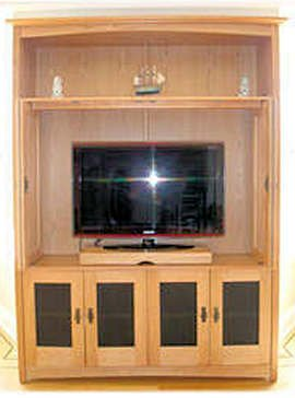 Large Craftsman HD cabinet w/bi-fold, pocket pivot doors
