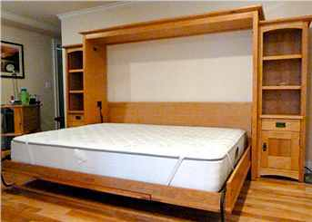 Same Craftsman Horizontal Wall Bed with bed down