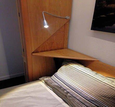 Internal Night Shelf in Down Position Also note the LED Gooseneck Reading Light