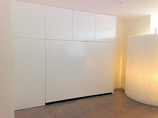Uber Modern Wall Storage System W/horizontal Wall Bed