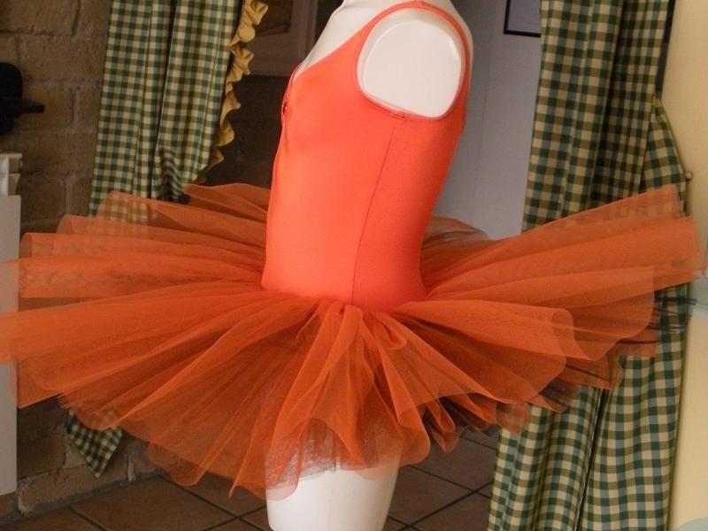vestito ballo arancio