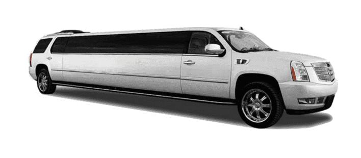 white escalade limo service LA