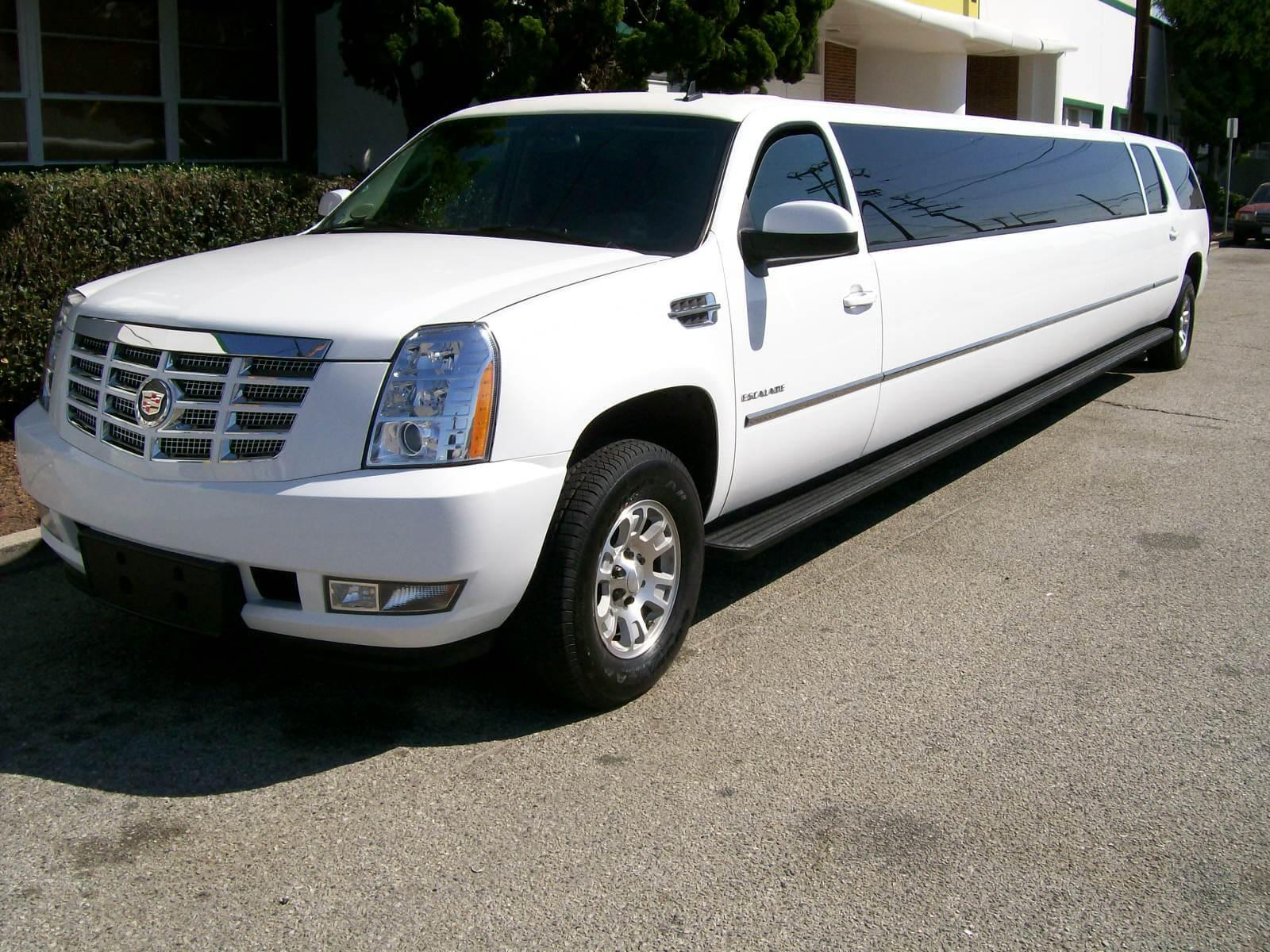 Los Angeles Limo Service White Escalade Limousine Rental