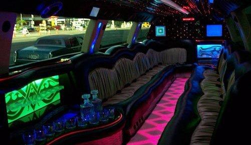 white escalade limo rental LA