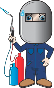 welder cartoon