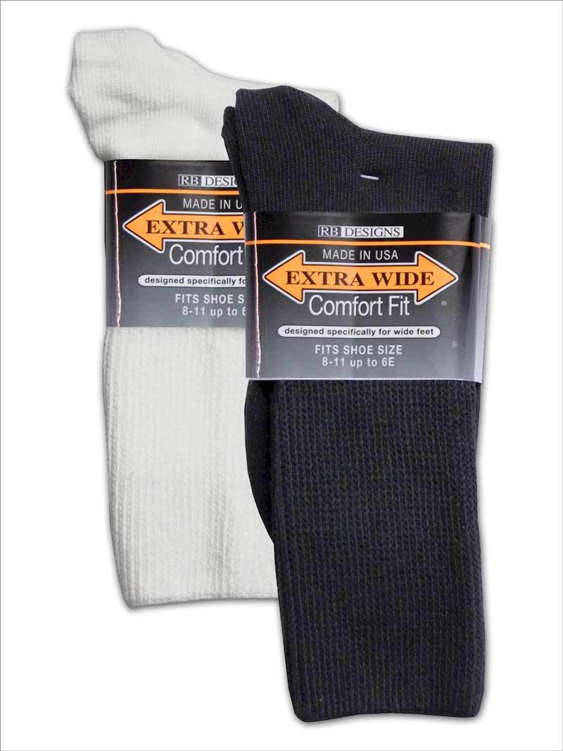 RB Designs Extra Wide Comfort Fit Socks