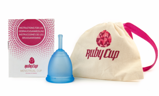 Pink menstrual cup