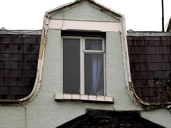Deteriorating house exterior