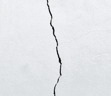 Cracked exterior wall