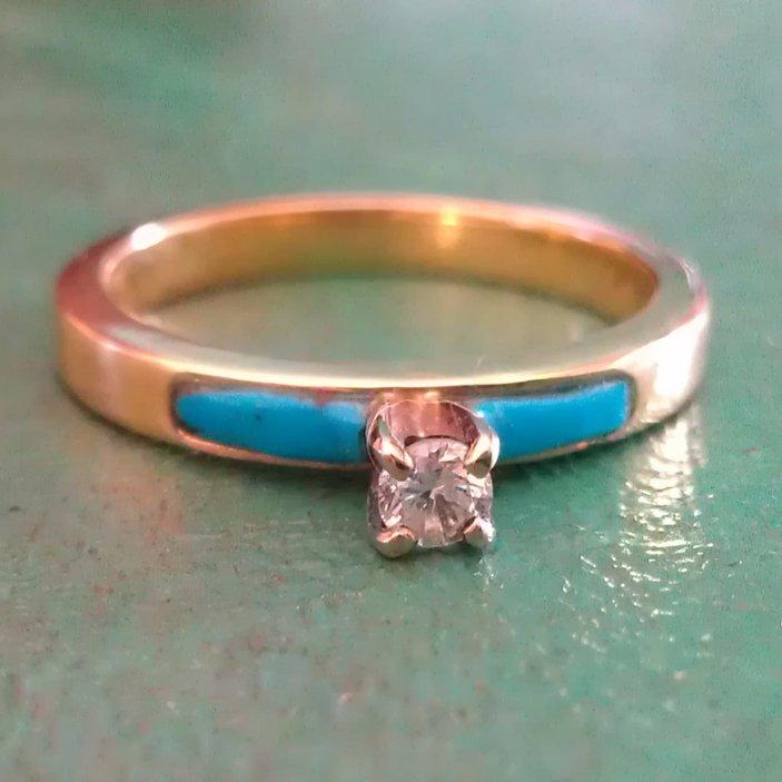 diamond turquoise engagement ring