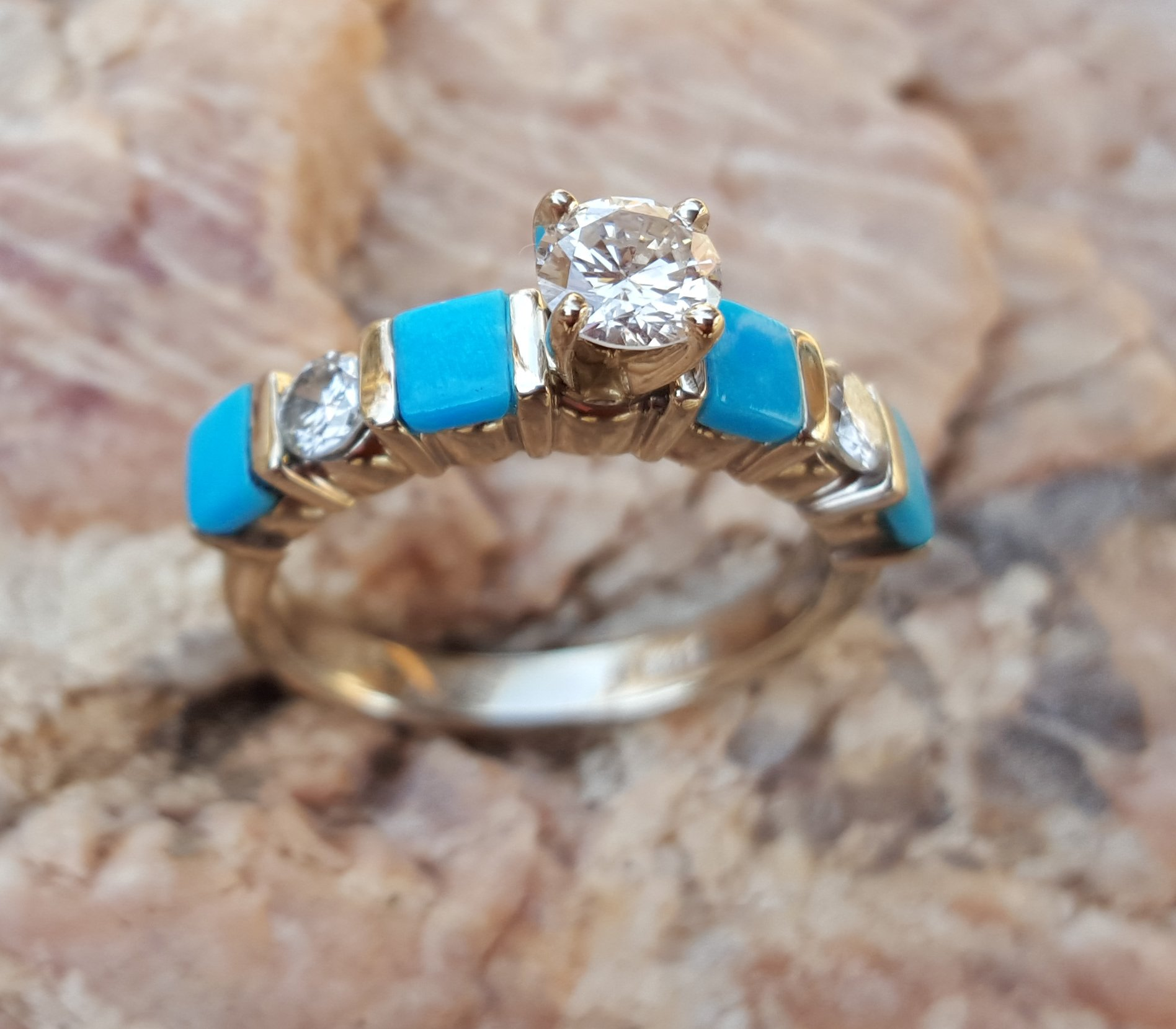 turquoise and diamond wedding ring bridal and engagement rings 8114