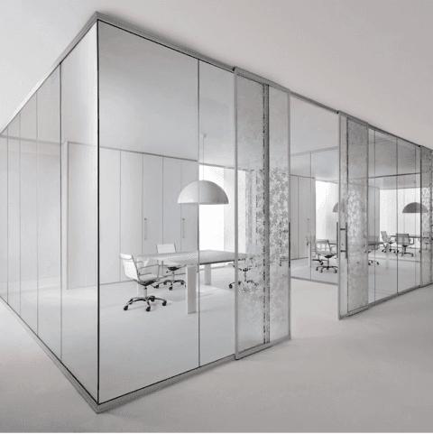 parete divisoria glass