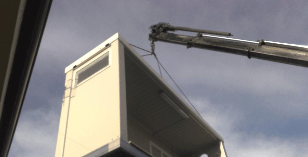 Movimentazione e posa in opera di monoblocchi prefabbricati