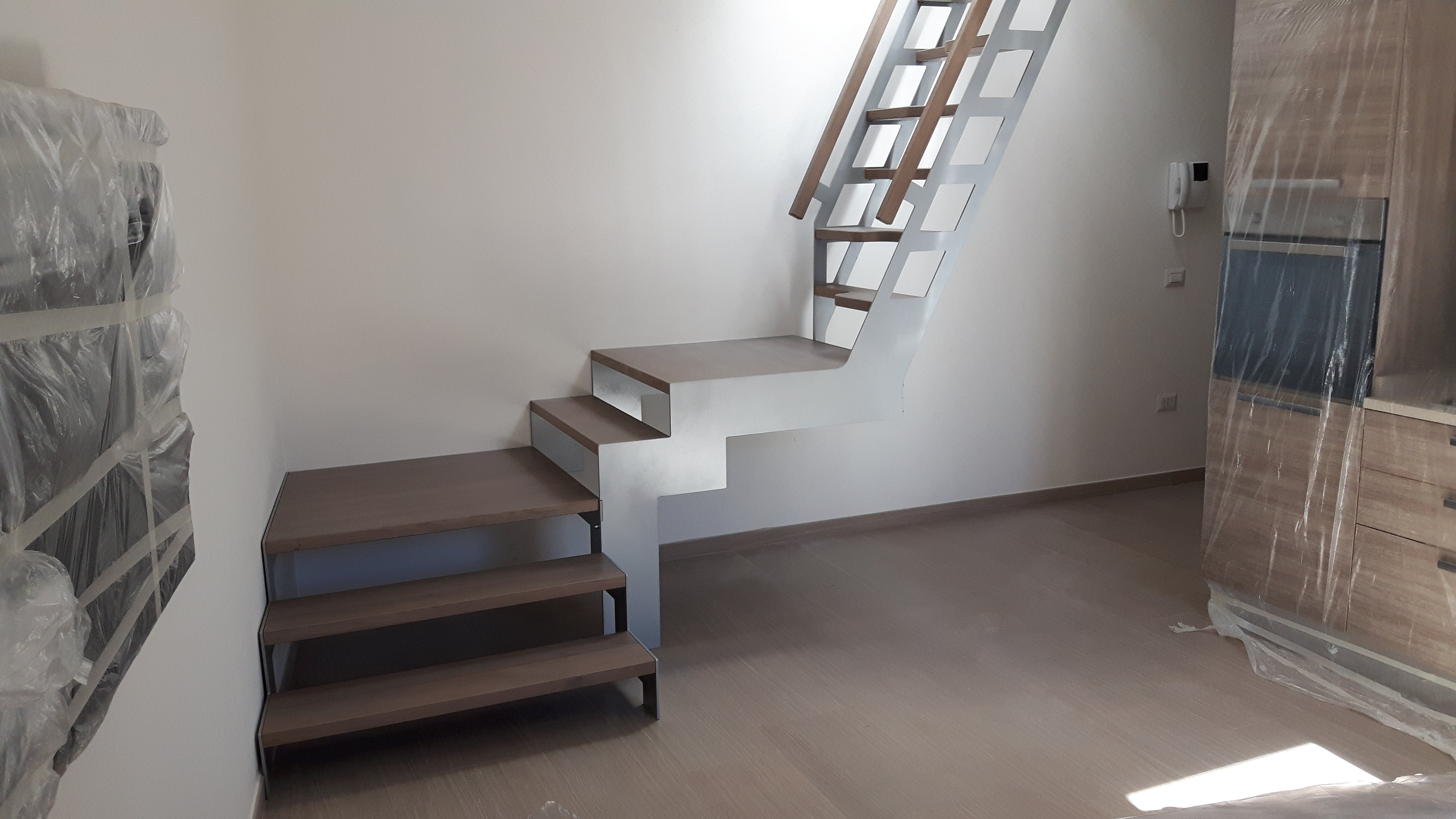 scala con sezione inclinata