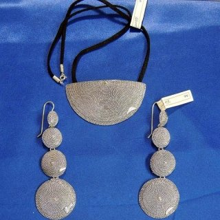 Silver Necklace and Earrings in Sardinian filigree