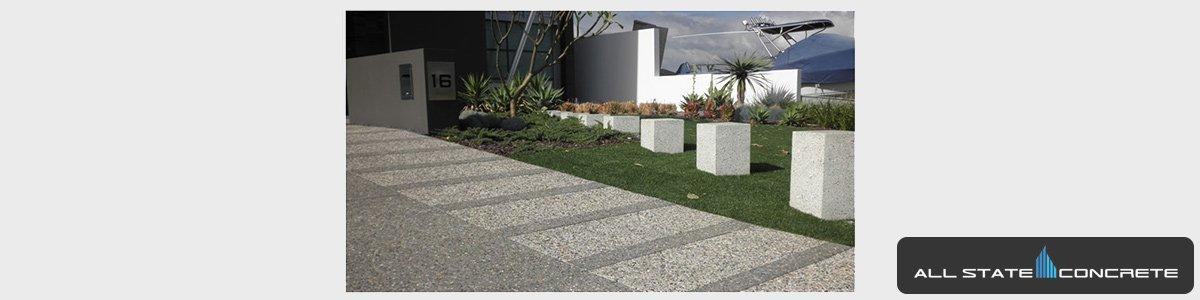 concrete paved garden